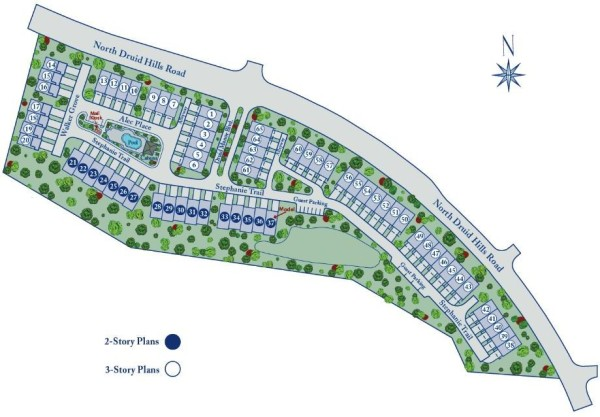 Towns At Druid Hills Atlanta Site Plan